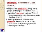 ultimate fulfillment of god s promise