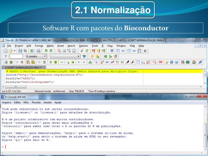2.1 Normalização