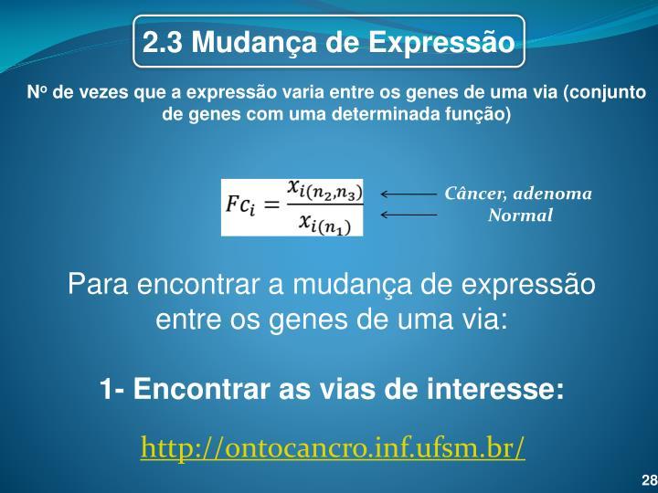 2.3 Mudança de Expressão