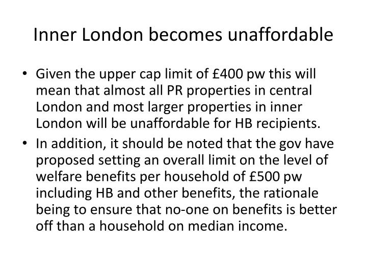 Inner London becomes unaffordable