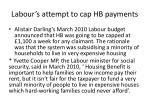 labour s attempt to cap hb payments