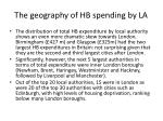 the geography of hb spending by la