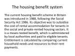 the housing benefit system