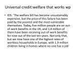 universal credit welfare that works w p