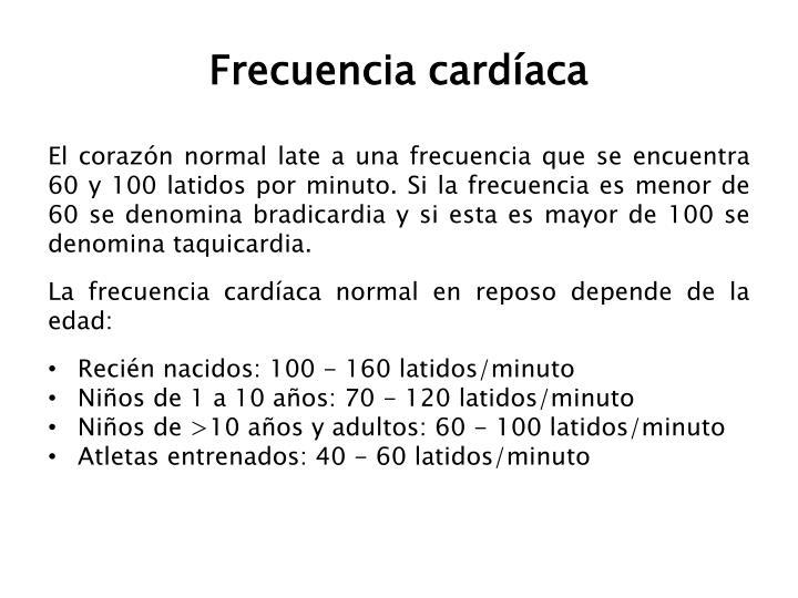 Frecuencia cardíaca