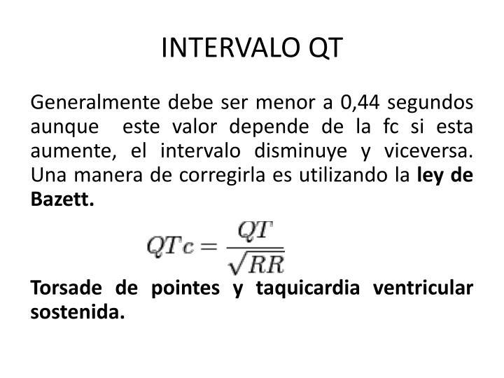 INTERVALO QT