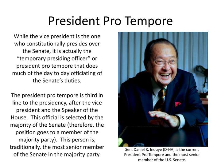 PPT - Government and Politics AP Review PowerPoint ... President Pro Tempore Seal