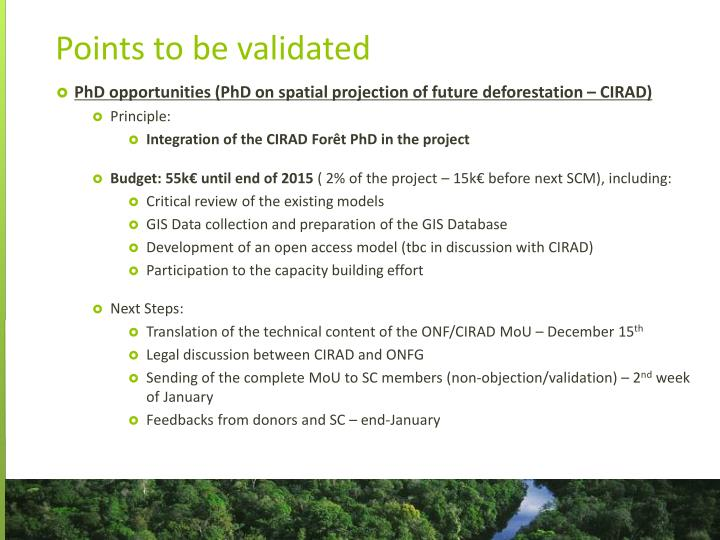 PhD opportunities (PhD on spatial projection of future deforestation – CIRAD)