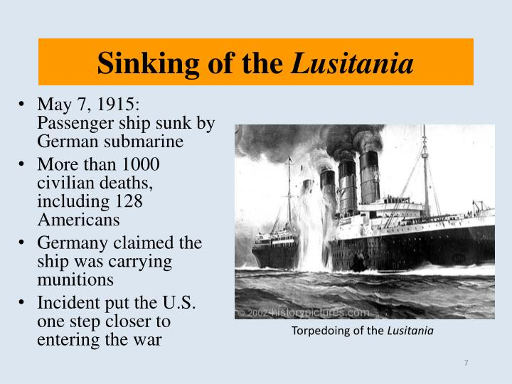 Sinking of the