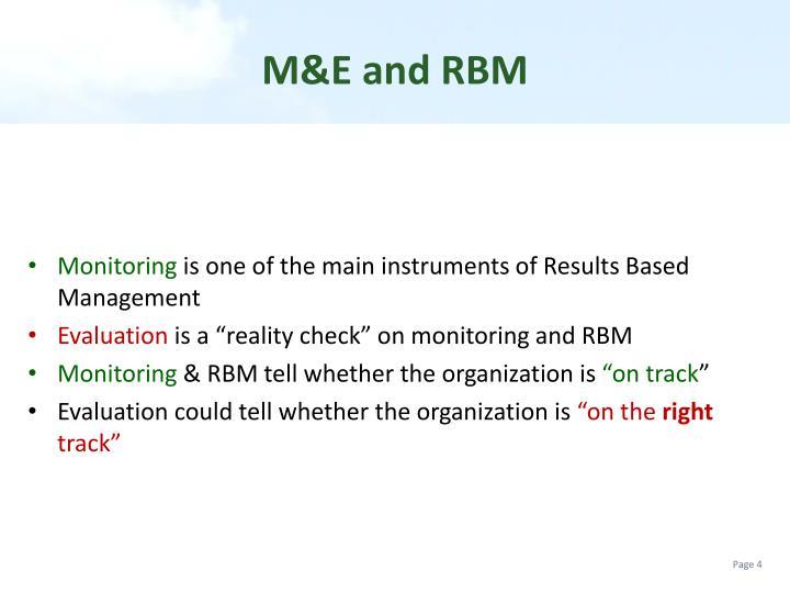 M&E and RBM