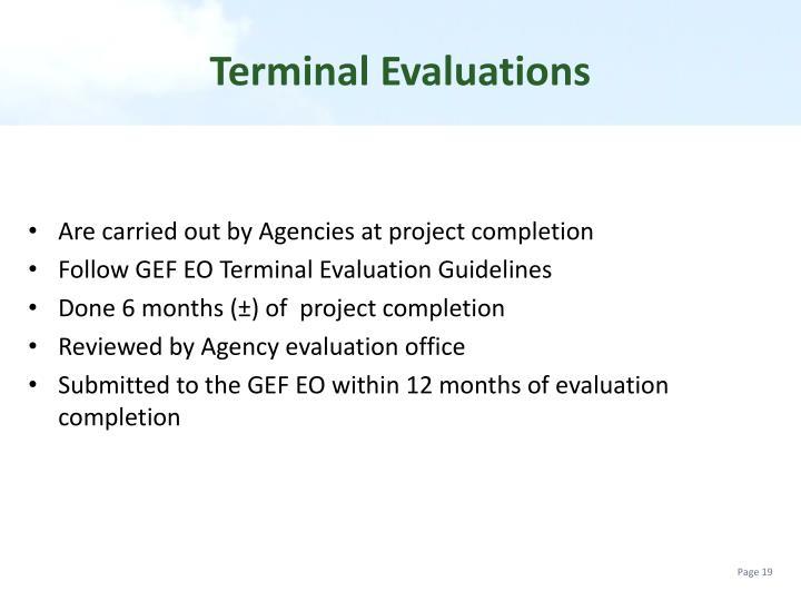 Terminal Evaluations