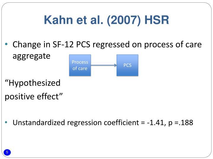 Kahn et al. (2007) HSR