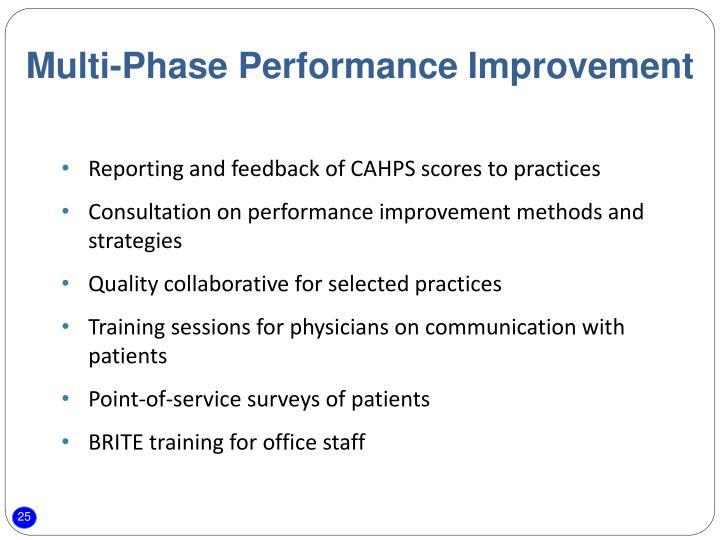 Multi-Phase Performance Improvement