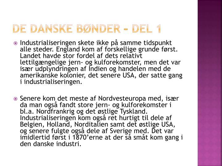 De danske bønder – del 1