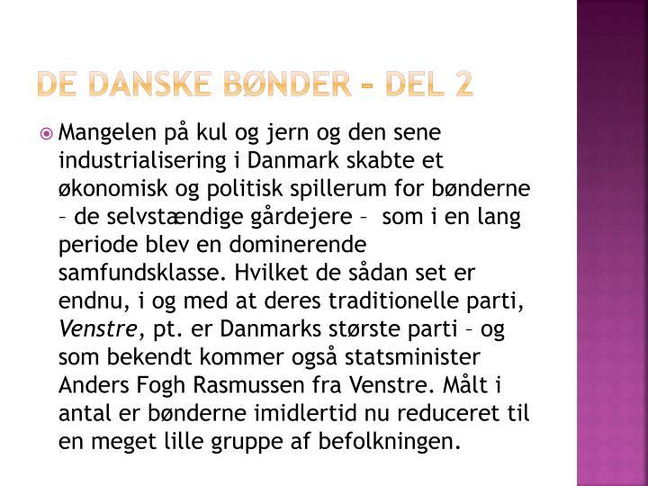 De danske bønder – del 2