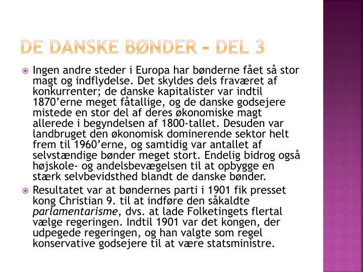 De danske bønder – del 3