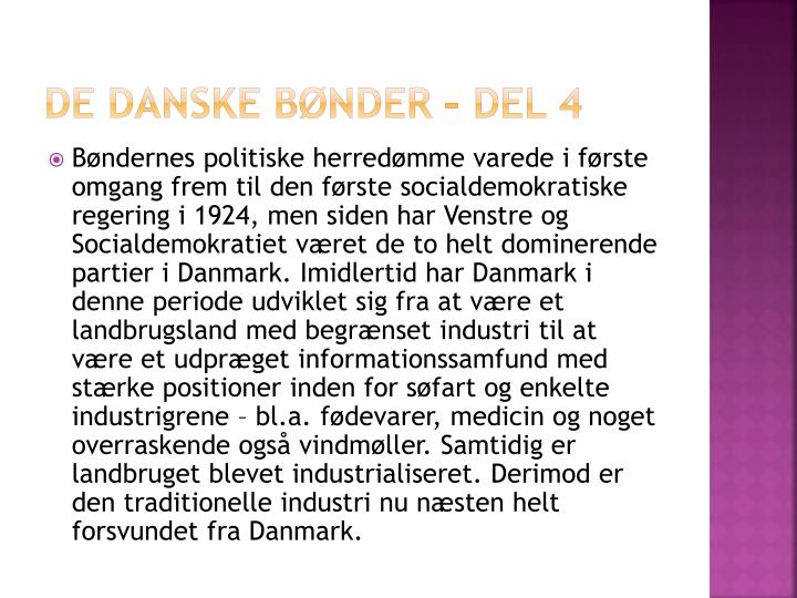 De danske bønder – del 4