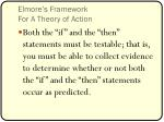 elmore s framework for a theory of action2