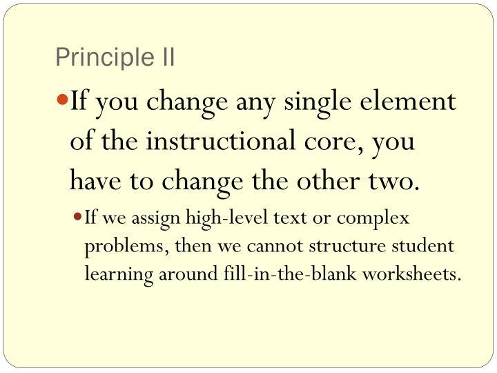 Principle II