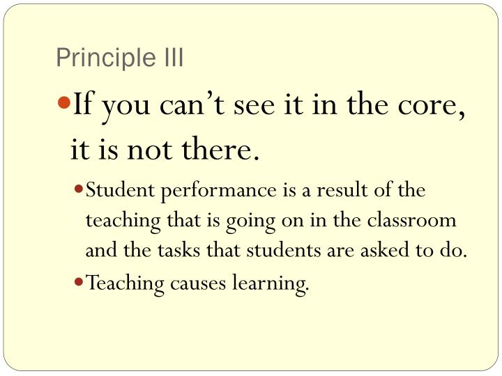 Principle III