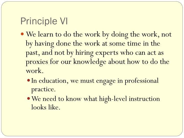 Principle VI