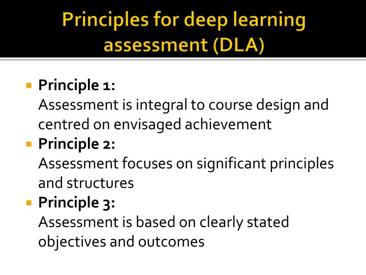 Principles for deep learning