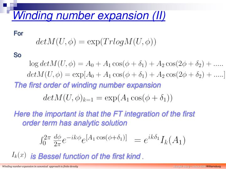 Winding number expansion (II)