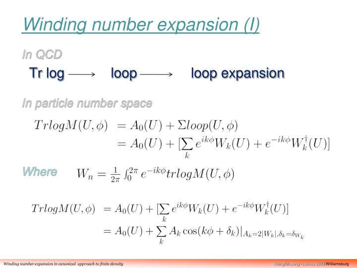 Winding number expansion (I)