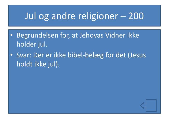 Jul og andre religioner – 200