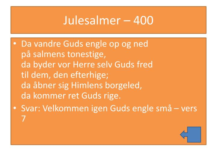 Julesalmer – 400
