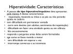 hiperatividade caracter sticas