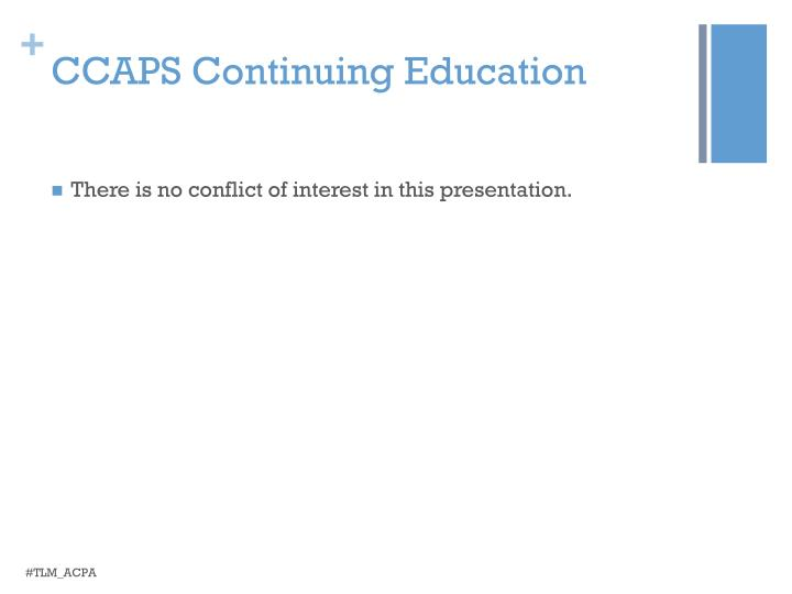 CCAPS Continuing Education