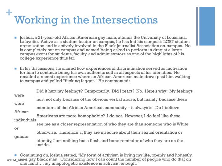 Working in the Intersections