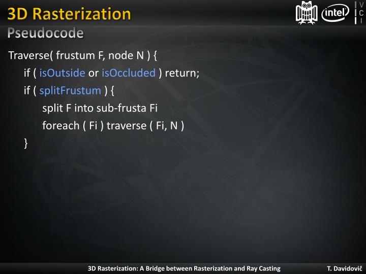 3D Rasterization