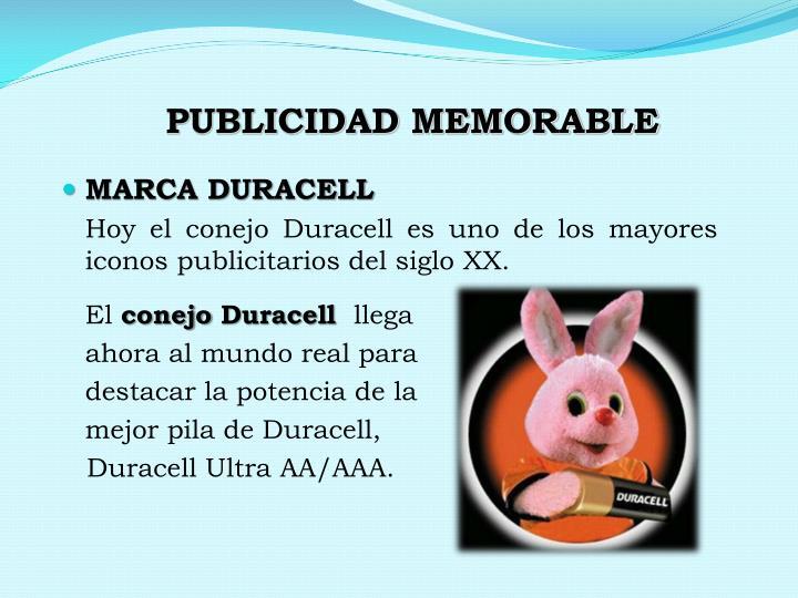 PUBLICIDAD MEMORABLE
