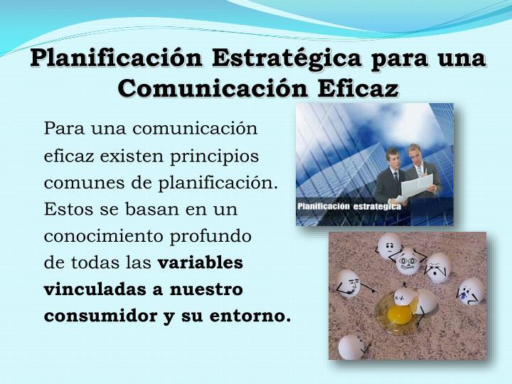Planificación Estratégica para una Comunicación Eficaz