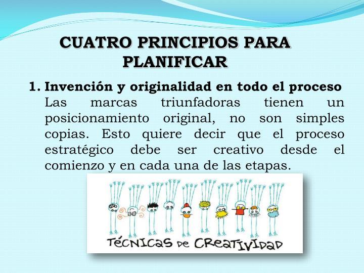 CUATRO PRINCIPIOS PARA PLANIFICAR