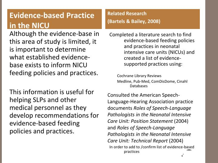 Evidence-based Practice in the NICU