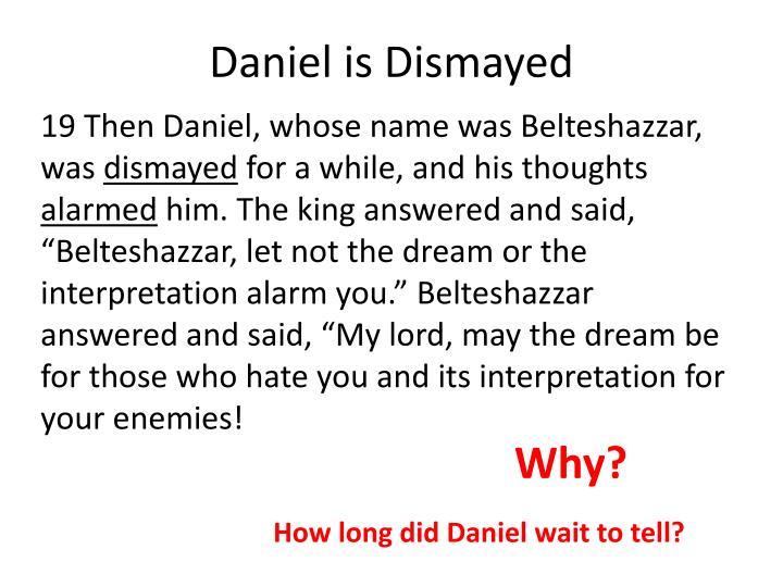 Daniel is Dismayed