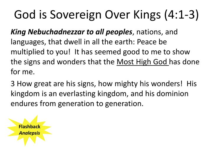 God is Sovereign Over