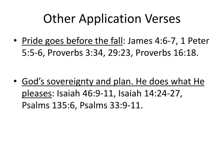 Other Application Verses