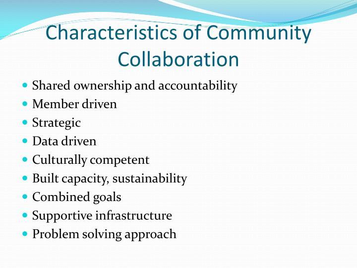 Characteristics of Community