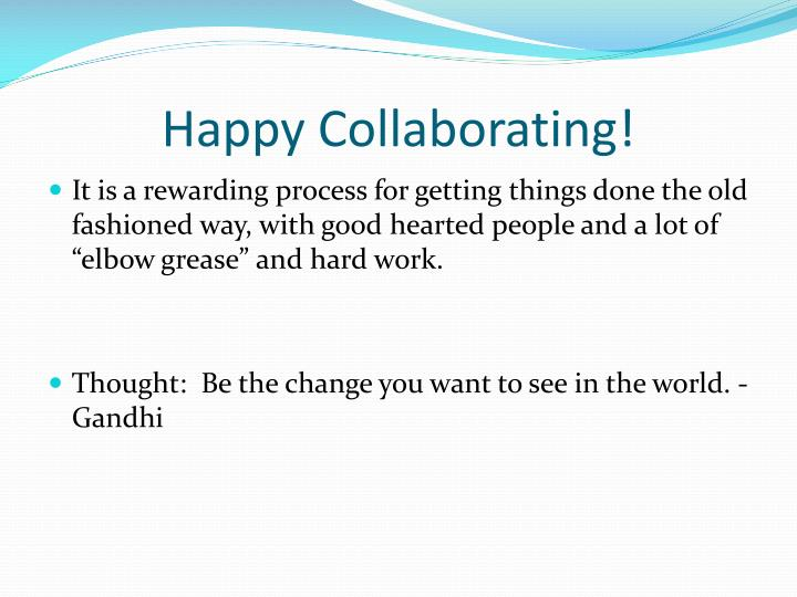 Happy Collaborating!