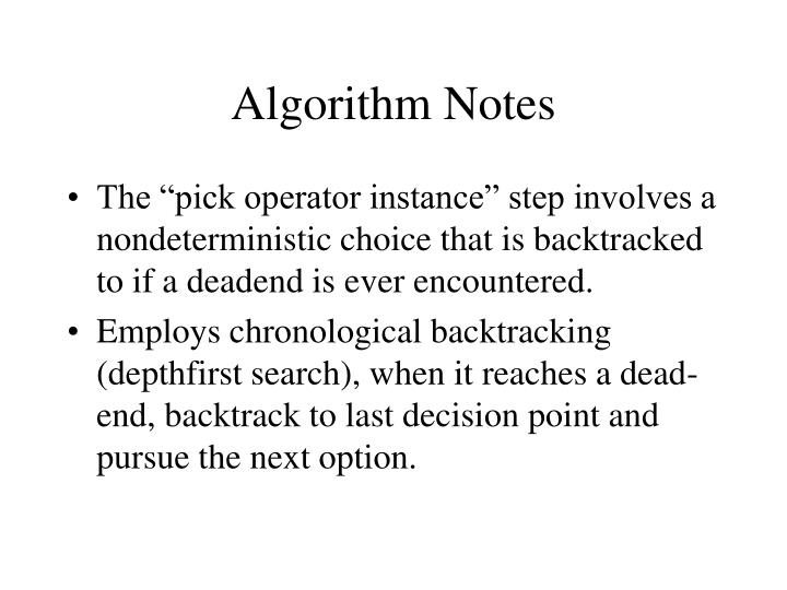 Algorithm Notes