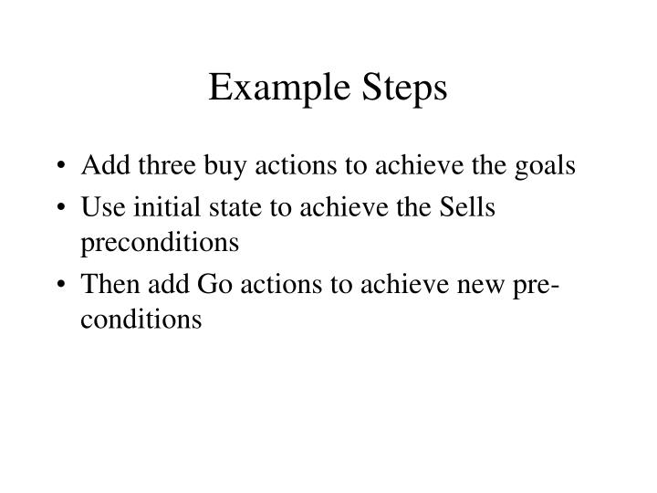 Example Steps