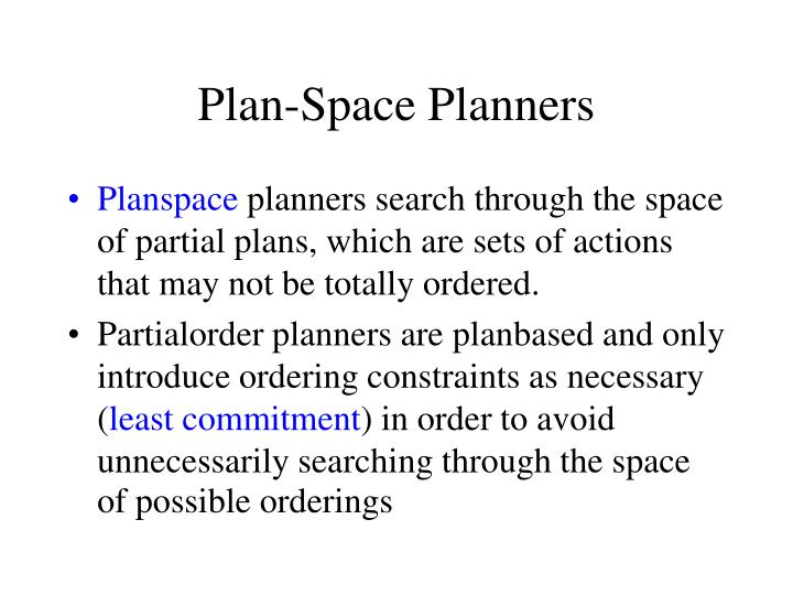 Plan-Space Planners