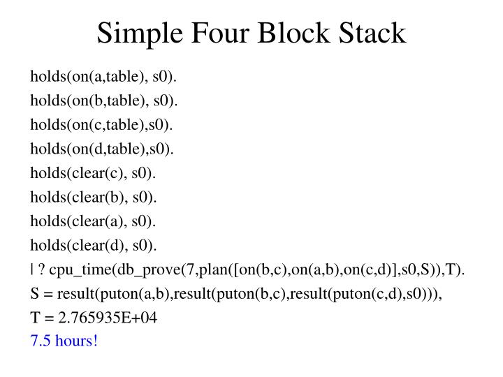Simple Four Block Stack