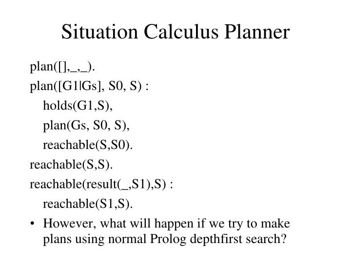 Situation Calculus Planner