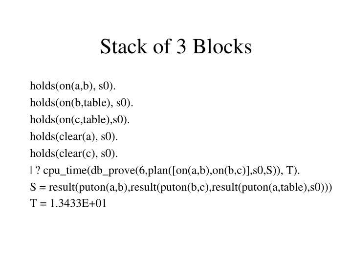 Stack of 3 Blocks
