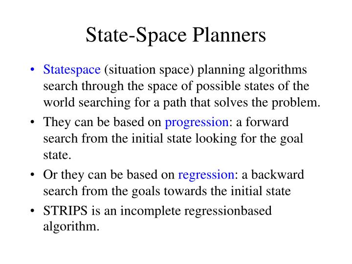 State-Space Planners